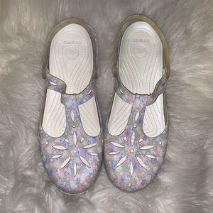 Pastel Floral Crocs